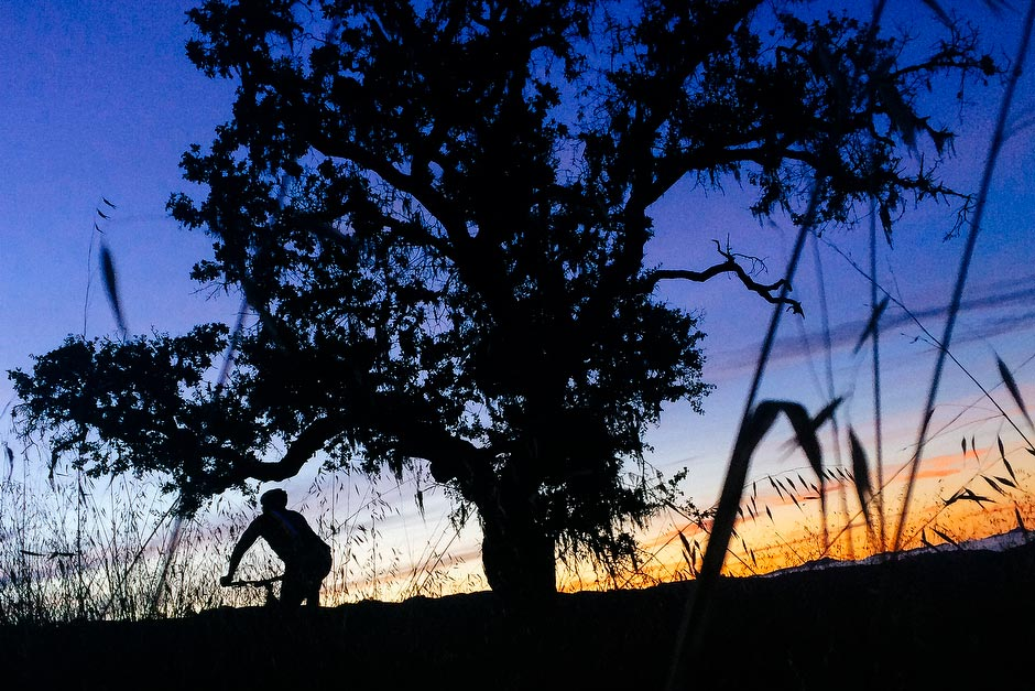 Wade at dawn on Jim Donnelly Trail